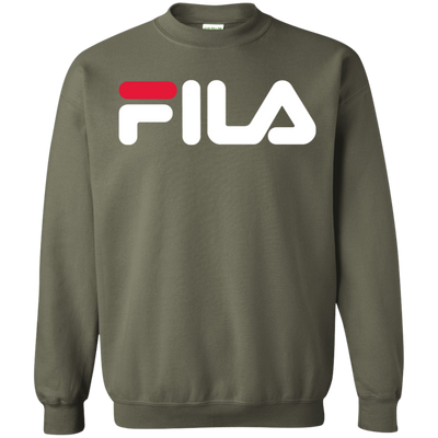 Fila Sweater Red White Logo - Military Green - Shipping Worldwide - NINONINE