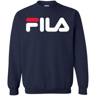 Fila Sweater Red White Logo - Navy - Shipping Worldwide - NINONINE