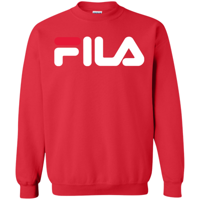 Fila Sweater Red White Logo - Red - Shipping Worldwide - NINONINE