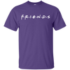 Friends Shirt Dark Style - Purple - Shipping Worldwide - NINONINE