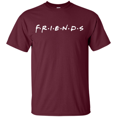 Friends Shirt Dark Style - Maroon - Shipping Worldwide - NINONINE