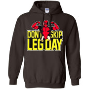 Funny Deadpool Hoodie Don't Skip Leg Day