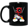 Funny Deadpool Riding Unicorn Mug - Shipping Worldwide - NINONINE