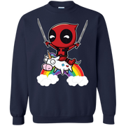 Funny Deadpool Riding Unicorn Sweater