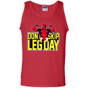 Funny Deadpool Tank Top Don't Skip Leg Day