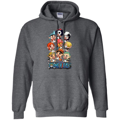 Funny Straw Hat Pirates Chibi One Piece Hoodie - Shipping Worldwide - NINONINE