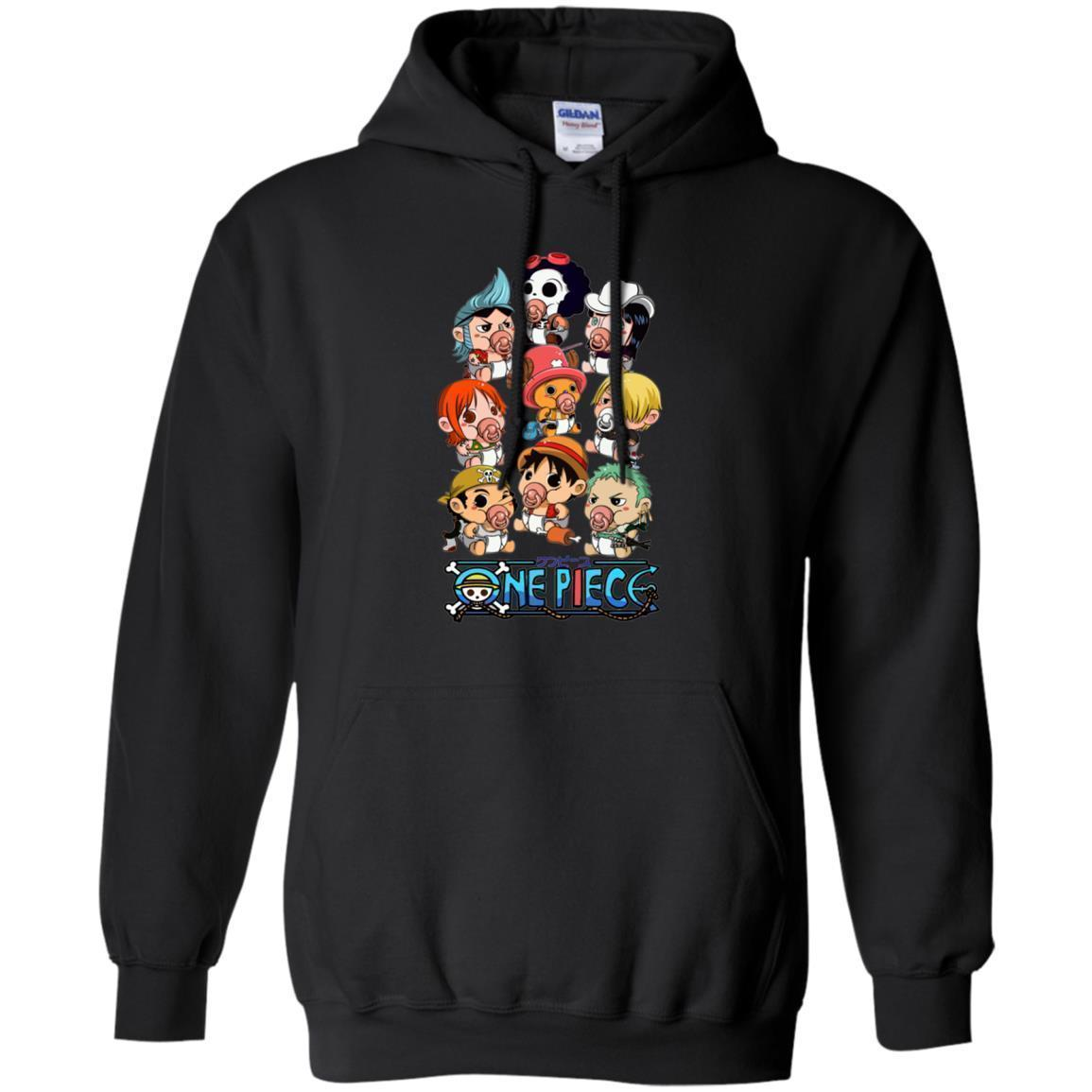 Funny Straw Hat Pirates Chibi One Piece Hoodie