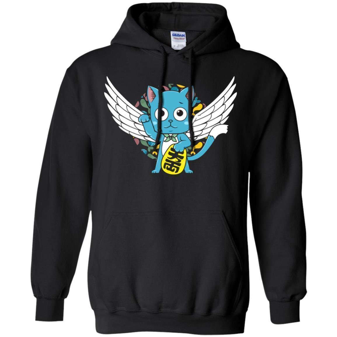 Happy Wings Lucky Cat Fairy Tail Hoodie