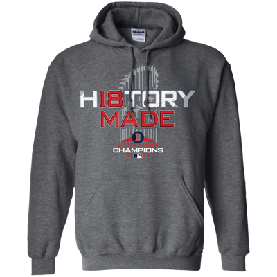 History Made Hoodie Red Sox - Dark Heather - Shipping Worldwide - NINONINE