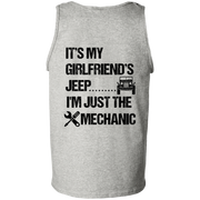 It's My Girlfriend's Jeep I'm Just The Mechanic Tank Top Dark