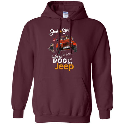 Just A Girl In Love With Her Dog And Her Jeep Hoodie - Shipping Worldwide - NINONINE
