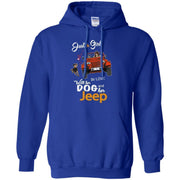 Just A Girl In Love With Her Dog And Her Jeep Hoodie