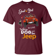 Just A Girl In Love With Her Dog And Her Jeep Shirt