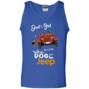Just A Girl In Love With Her Dog And Her Jeep Tank Top