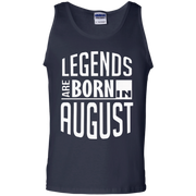 Legends Are Born In August Leo Birthday Tank Top