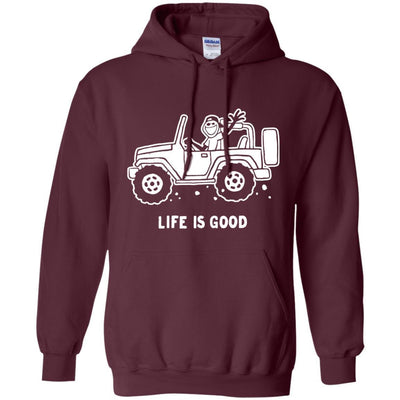 Life Is Good Jeep Hoodie For Men - Shipping Worldwide - NINONINE