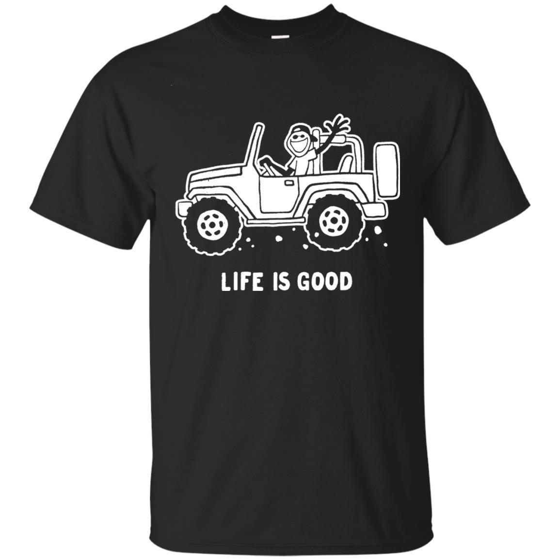 Life Is Good Jeep Shirt For Men