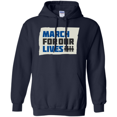 March For Our Lives Hoodie Original Style - Navy - Shipping Worldwide - NINONINE