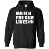 March For Our Lives Hoodie White Text Style - Black - Shipping Worldwide - NINONINE