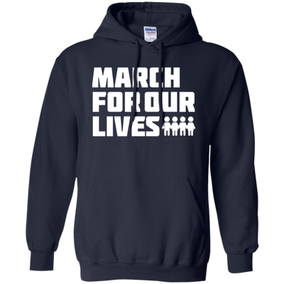 March For Our Lives Hoodie White Text Style - Navy - Shipping Worldwide - NINONINE