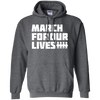 March For Our Lives Hoodie White Text Style - Dark Heather - Shipping Worldwide - NINONINE