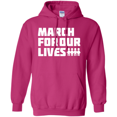 March For Our Lives Hoodie White Text Style - Heliconia - Shipping Worldwide - NINONINE