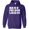 March For Our Lives Hoodie White Text Style - Purple - Shipping Worldwide - NINONINE