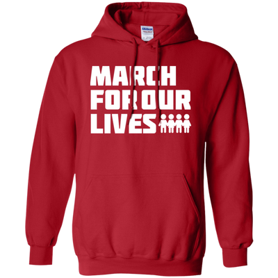 March For Our Lives Hoodie White Text Style - Red - Shipping Worldwide - NINONINE