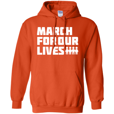 March For Our Lives Hoodie White Text Style - Orange - Shipping Worldwide - NINONINE