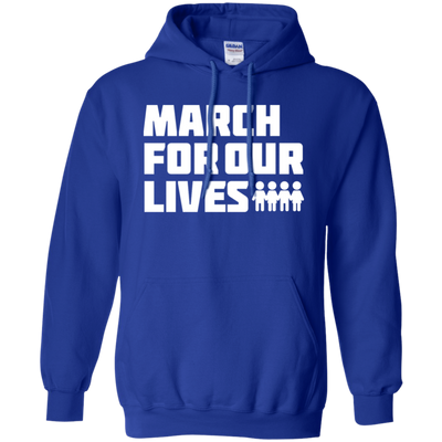 March For Our Lives Hoodie White Text Style - Royal - Shipping Worldwide - NINONINE