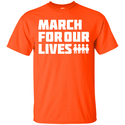 March For Our Lives Shirt White Text Style - Orange - Shipping Worldwide - NINONINE