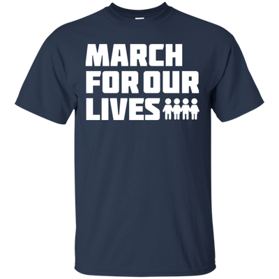 March For Our Lives Shirt White Text Style - Navy - Shipping Worldwide - NINONINE