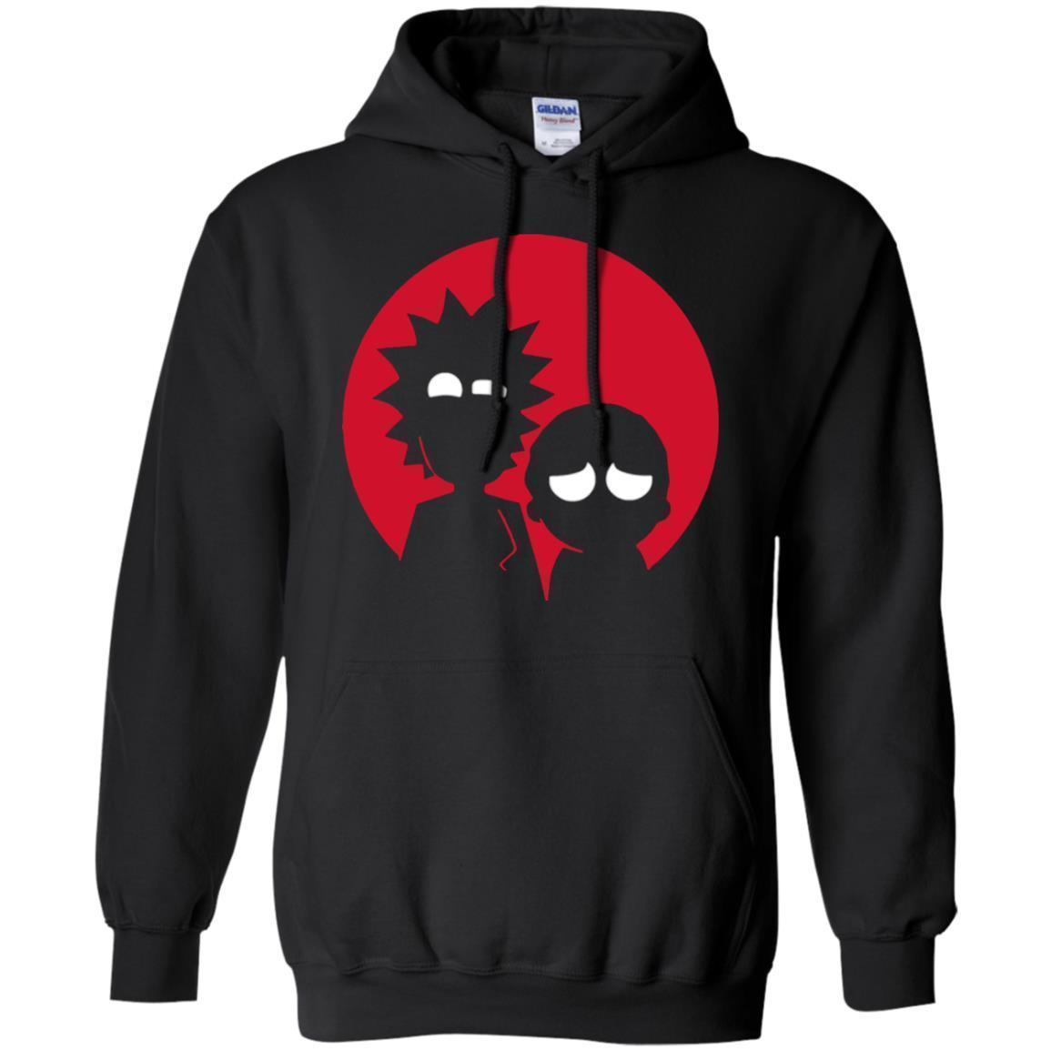 Minimalist Characters Rick And Morty Hoodie