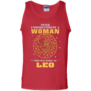 Never Underestimate A Woman Who Was Born As Leo Zodiac Tank Top