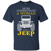Never Underestimate A Woman With A Jeep Shirt