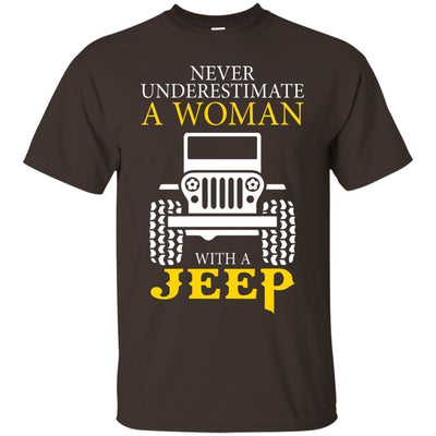 Never Underestimate A Woman With A Jeep Shirt - Shipping Worldwide - NINONINE