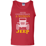 Never Underestimate A Woman With A Jeep Tank Top