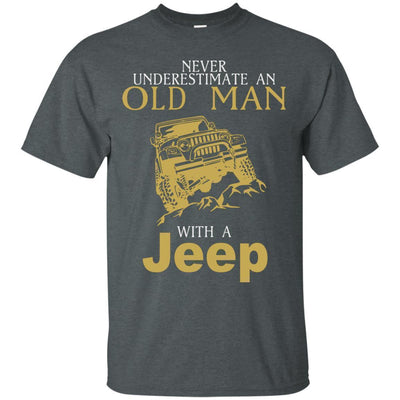 Never Underestimate An Old Man With A Jeep Shirt - Shipping Worldwide - NINONINE