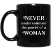 Never Underestimate The Power Of A Woman Mug - Shipping Worldwide - NINONINE