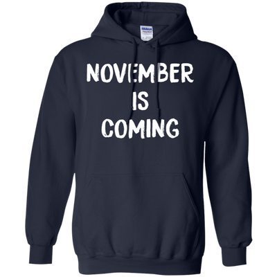 November Is Coming Hoodie - Navy - Shipping Worldwide - NINONINE