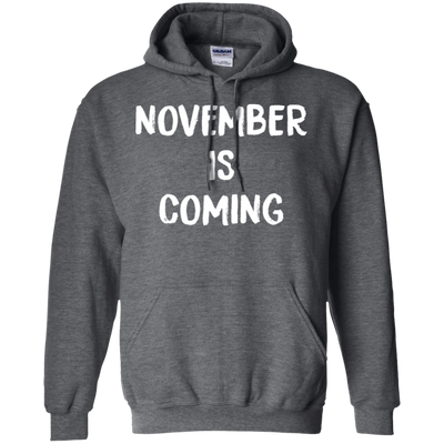 November Is Coming Hoodie - Dark Heather - Shipping Worldwide - NINONINE