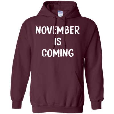 November Is Coming Hoodie - Maroon - Shipping Worldwide - NINONINE