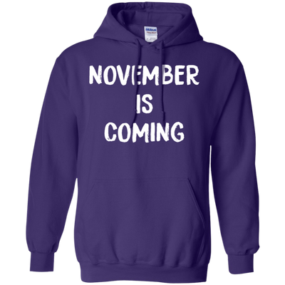 November Is Coming Hoodie - Purple - Shipping Worldwide - NINONINE