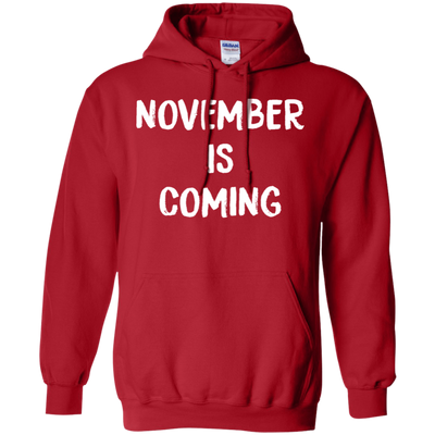 November Is Coming Hoodie - Red - Shipping Worldwide - NINONINE