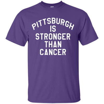Pittsburgh Is Stronger Than Cancer Shirt - Purple - Shipping Worldwide - NINONINE