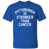 Pittsburgh Is Stronger Than Cancer Shirt - Royal - Shipping Worldwide - NINONINE