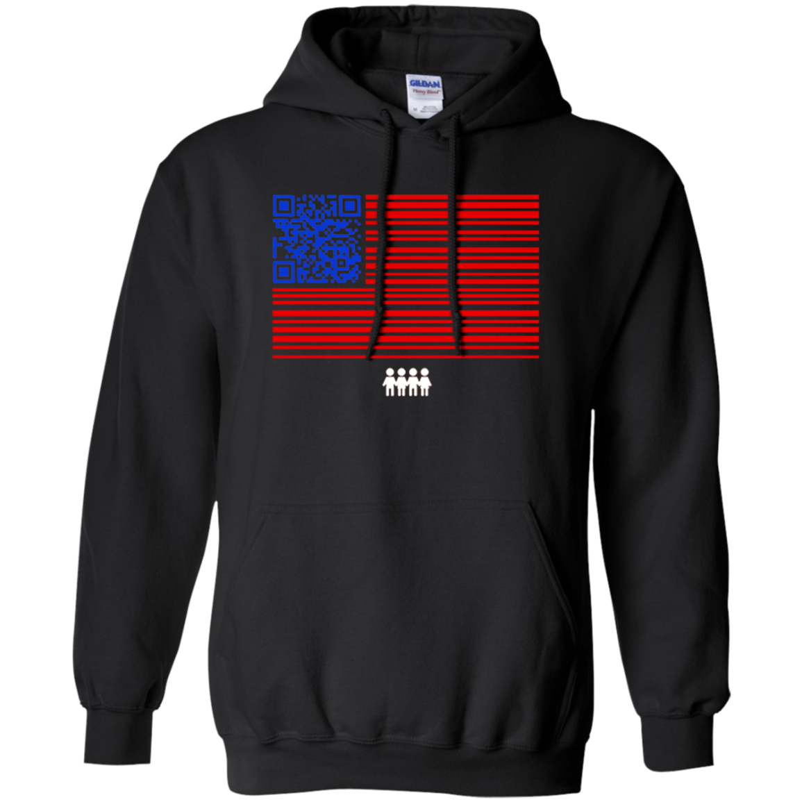 QR Codes To Register Voters Hoodie Turnout Tuesday Black
