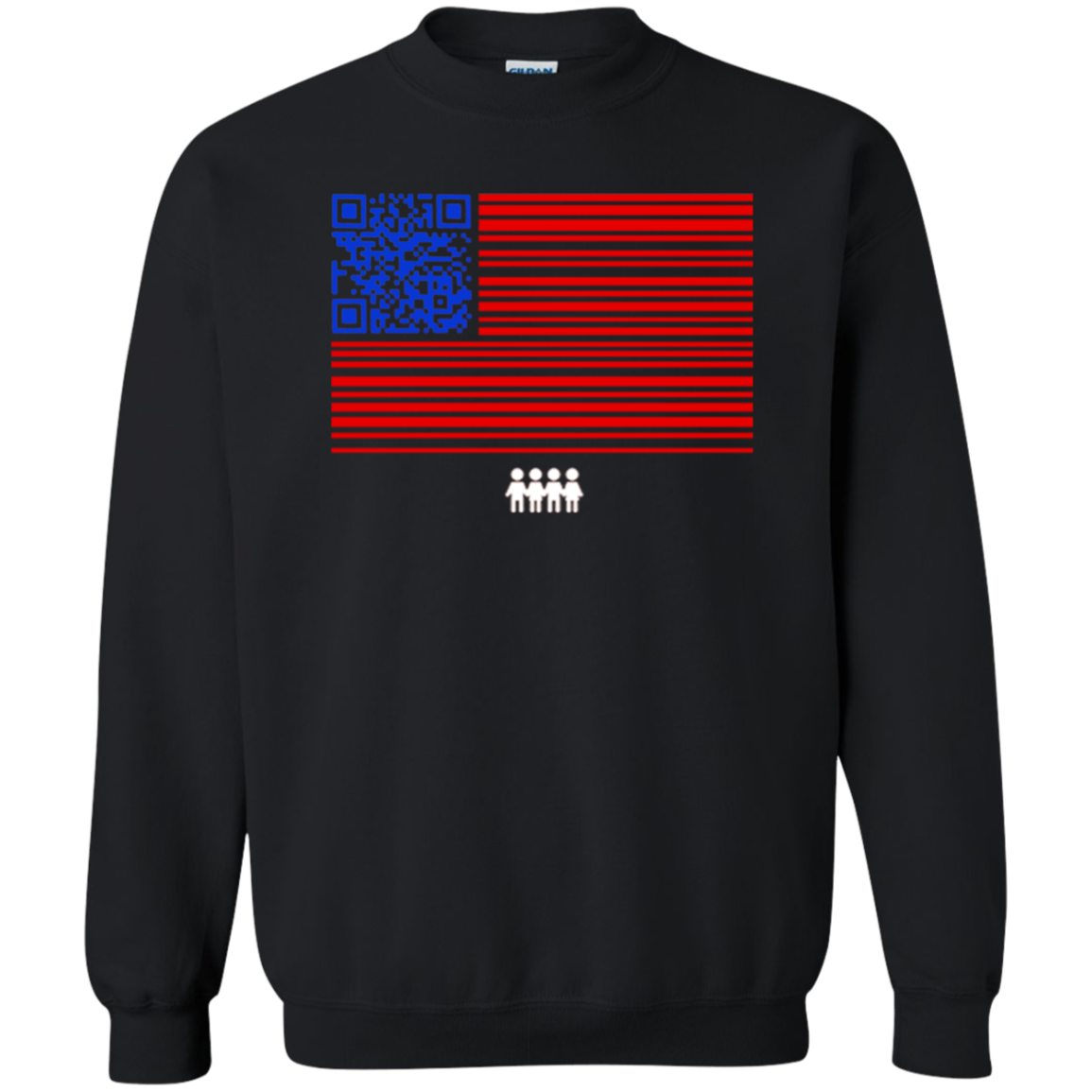 QR Codes To Register Voters Sweater Sweatshirt Turnout Tuesday Black