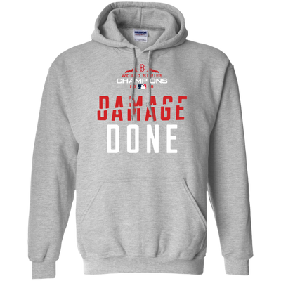 Red Sox Damage Done Hoodie - Sport Grey - Shipping Worldwide - NINONINE