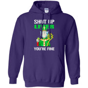 Rick And Morty Shut Up Liver You're Fine Hoodie